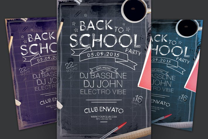 Thumbnail for Back to School Party Flyer