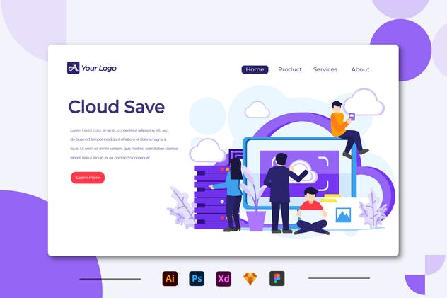 Cloud Save - Landing Page
