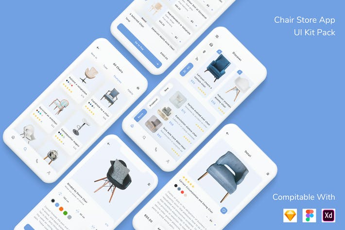 Thumbnail for Chair Store App UI Kit Pack