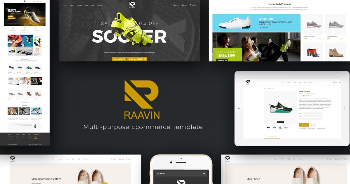Download Raavin - Shoes Responsive OpenCart Theme by posthemes