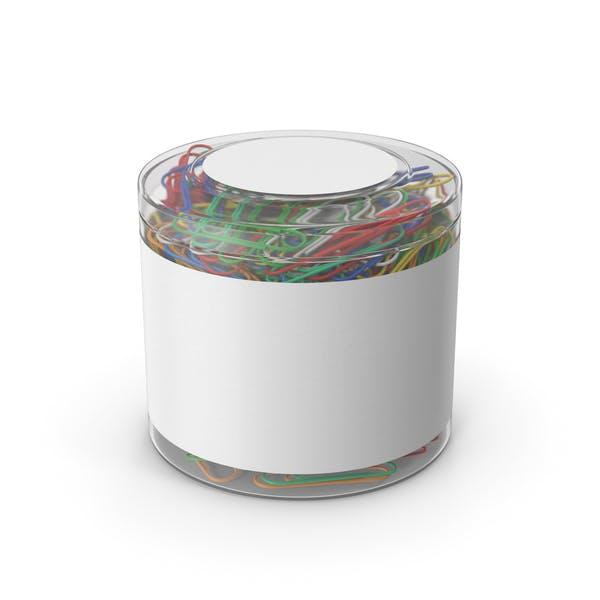 Скрепки в пластиковой чашке