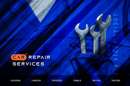 Car Repair Service – Automotive Social Media Kit