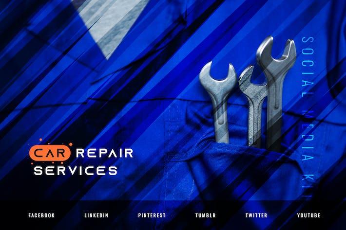 Thumbnail for Услуги по ремонту автомобилей — Автомобильные социальные медиа Kit