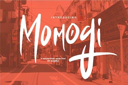 Momogi   A Handwritten Asian Font