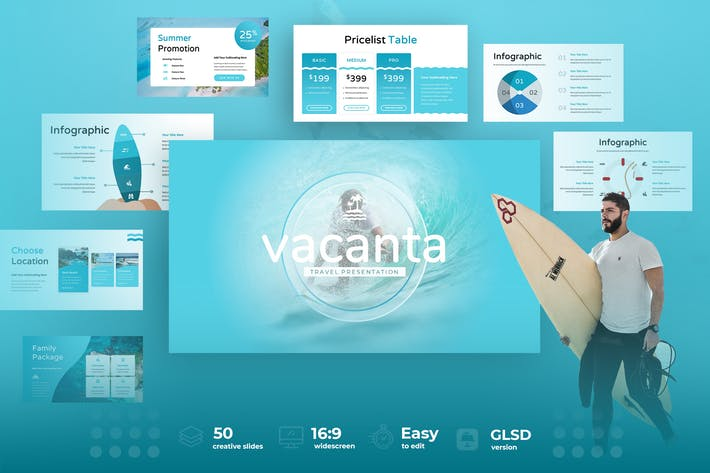 Thumbnail for Vacanta  - Vacation Google Slides Presentation