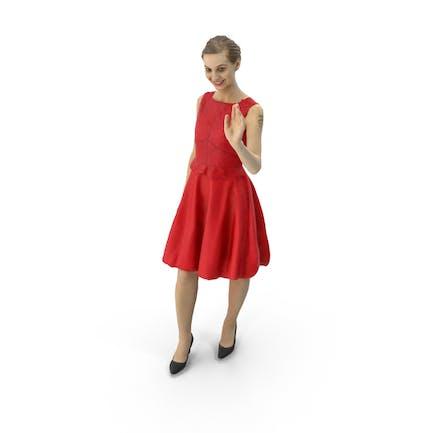 Damen Winken Kleid
