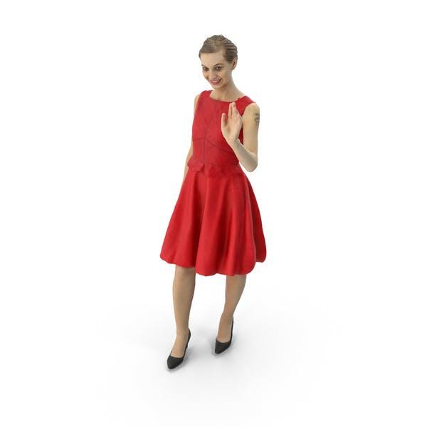 Женщина Размахивая платье