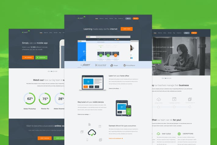 Thumbnail for eLearn - Multi-Purpose PSD Template