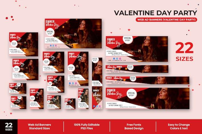 Thumbnail for Bannières publicitaires pour fête de la Saint-Valentin