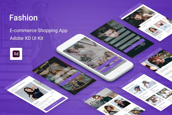 Thumbnail for Fashion - Ecommerce Shopping App for Adobe XD
