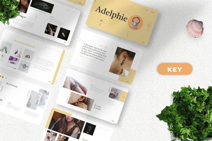 Adelphie  - Jewelry Product Keynote Template