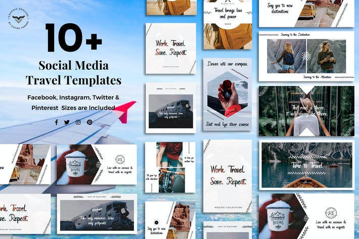 Thumbnail for Social Media Travel Templates