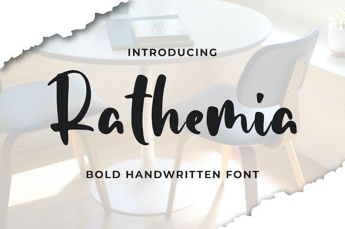 Thumbnail for Rathemia - жирный рукописный шрифт