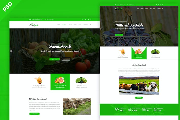 Thumbnail for Farm Fresh - Organic Food & Eco Farm PSD Template