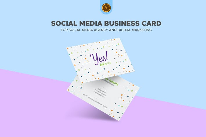 Thumbnail for Social Media Business Card 06