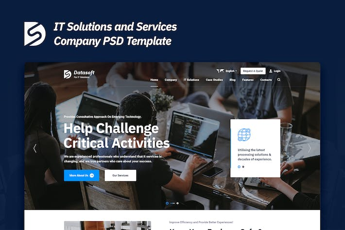 Thumbnail for Datasoft - IT Solutions and Services PSD Template