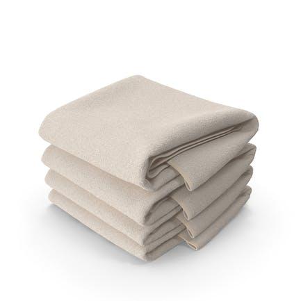 Stack of Beige Towels