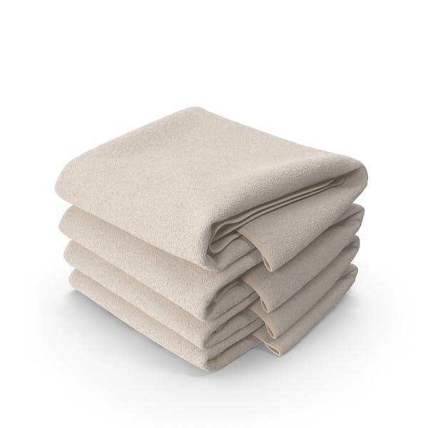Стек бежевых полотенец