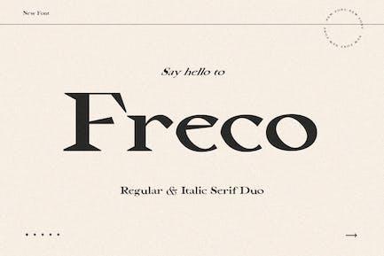 Freco - Fuente Con serifa moderna