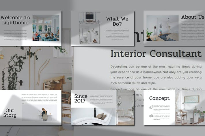 Thumbnail for Lighthome – Interior Consultant  Keynote Template