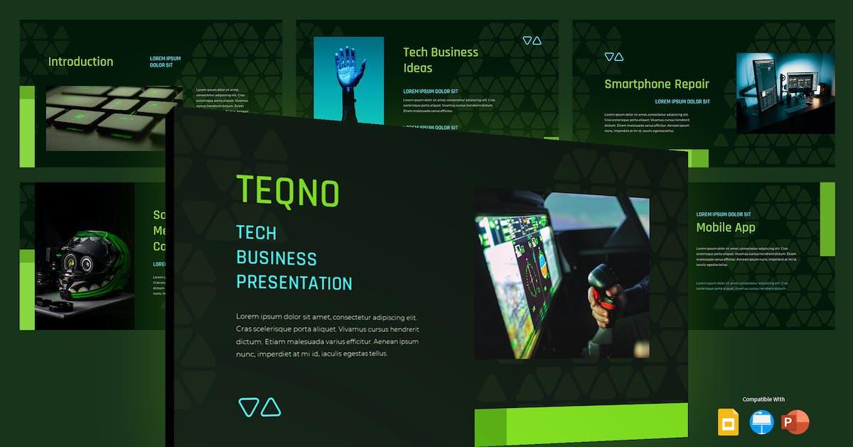 Download TEQNO - Tech Business Presentation Template by inipagi
