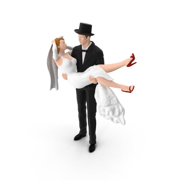 Thumbnail for Bride and Groom Miniature with Top Hat