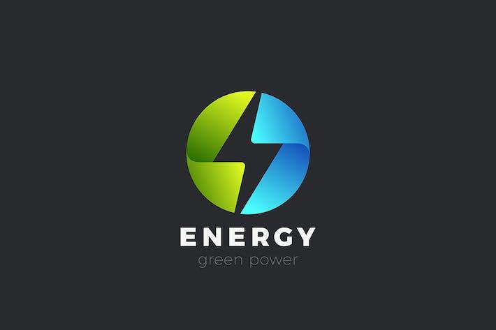 Flash Logo Electric Energy Power Circle shape