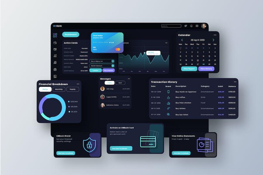 UB Bank Dashboard UI - T