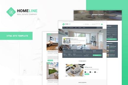 Homeline - Moderne einzigartige Immobilien-Vorlage