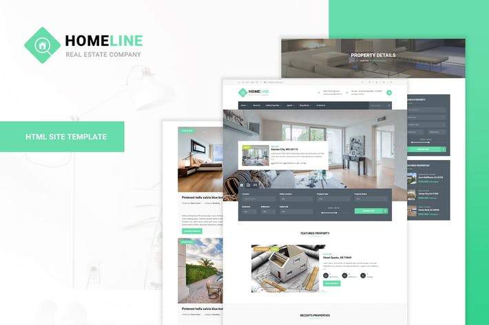 Thumbnail for Homeline - Modern Unique Real Estate Template