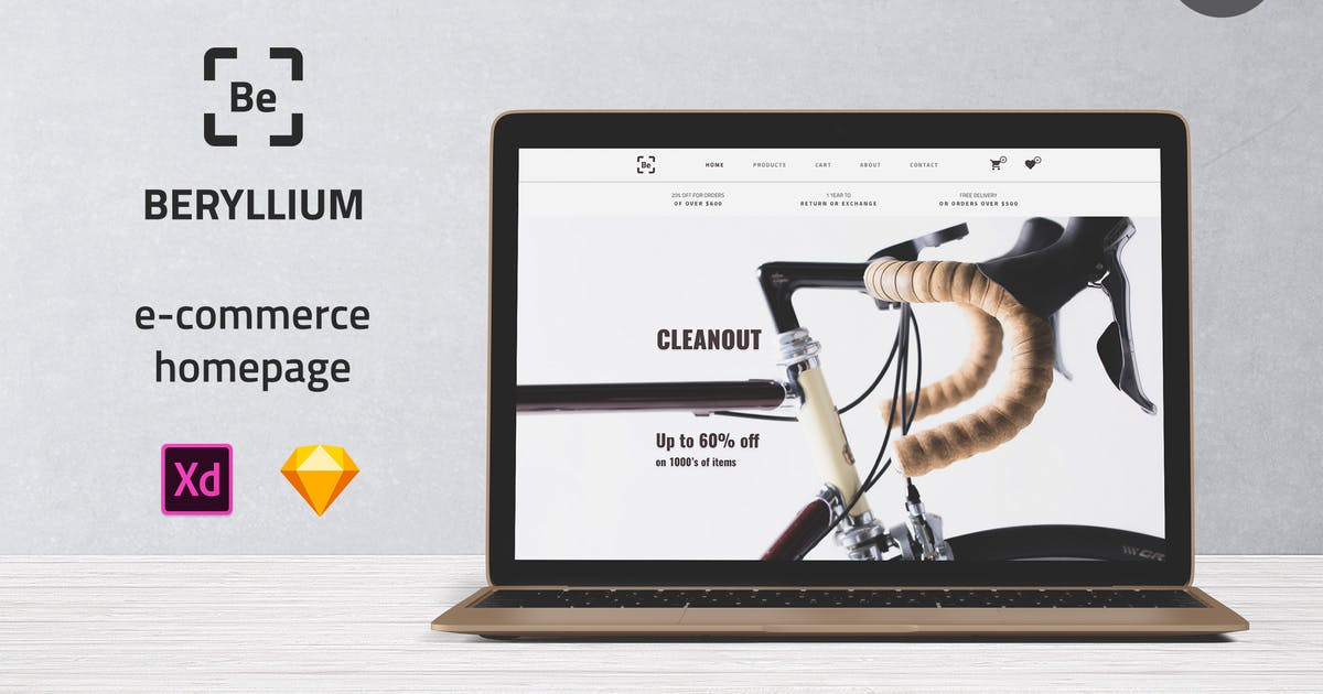 Download Beryllium - E-commerce Homepage UI Template by itefan