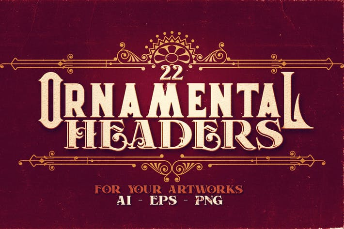 Thumbnail for 22 Ornamental Headers