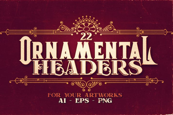 22 Ornamental Headers