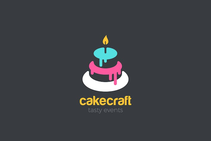 Thumbnail for Logo Cake Sweet Candy shop abstract design