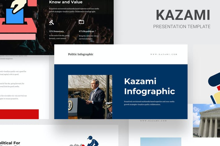Thumbnail for Kazami Political Campaign Infographic GoogleSlides