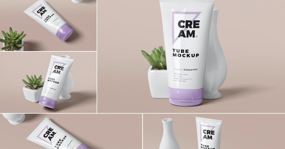Download Cream Tube Mockups by zippypixels