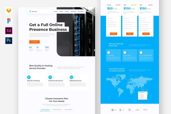 Thumbnail for Hosting Service Website Template