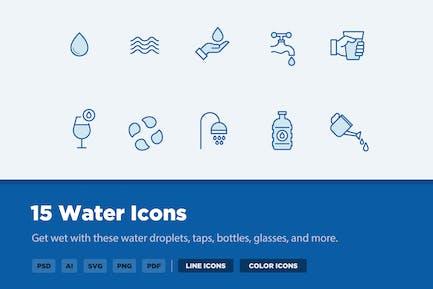 15 Íconos de agua