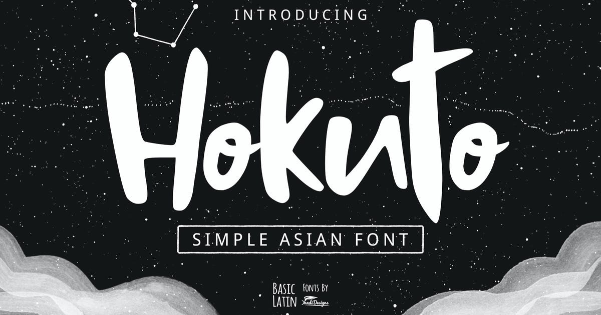 Download Hokuto Asian Font by yandidesigns