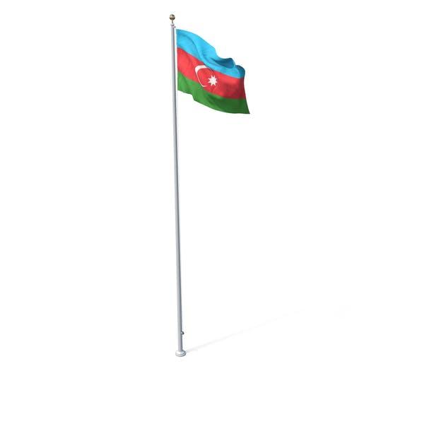 Fahne auf Pole Aserbaidschan