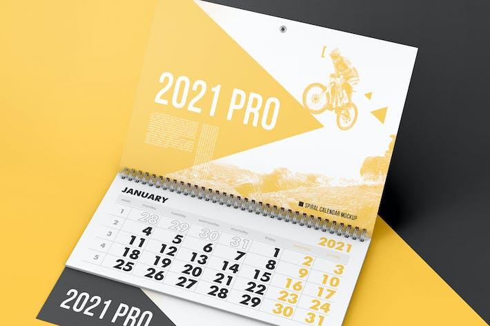 Thumbnail for Spiral Wall Calendar Mockup