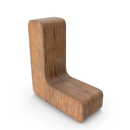L Letra de madera