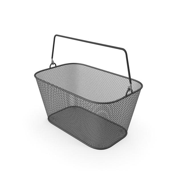 Black Shopping Wire Mesh Basket