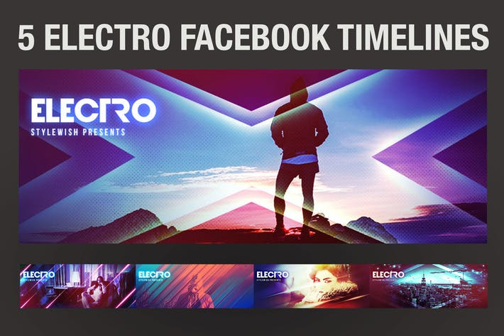 Thumbnail for 5 Electro Facebook Timeline Covers
