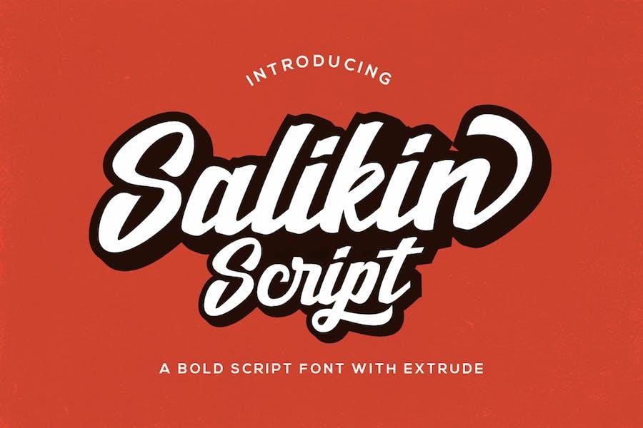 Salikin Script Font