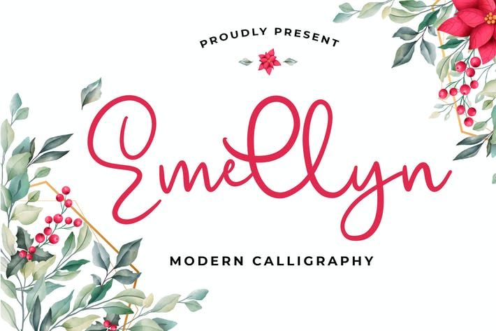 Thumbnail for Emellyn Lovely Modern Calligraphy Font