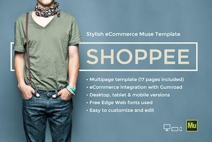 Shoppee - Plantilla de Muse de comercio electrónico elegante
