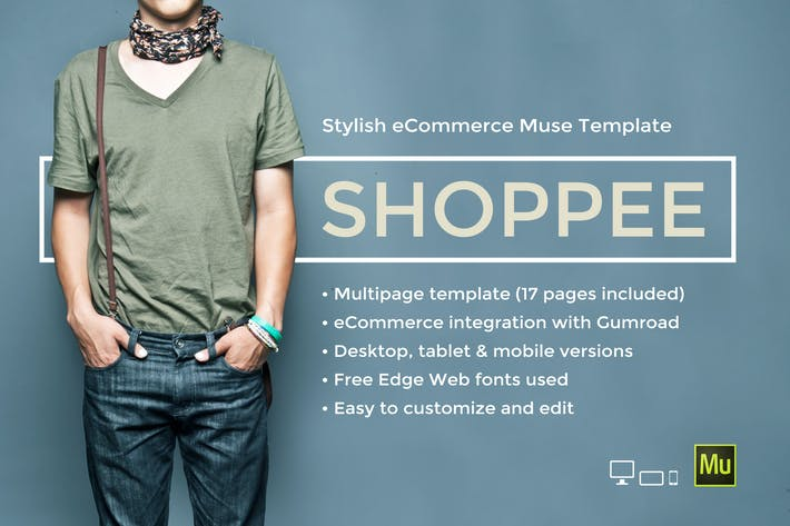 Thumbnail for Shoppee - Stylish eCommerce Muse Template