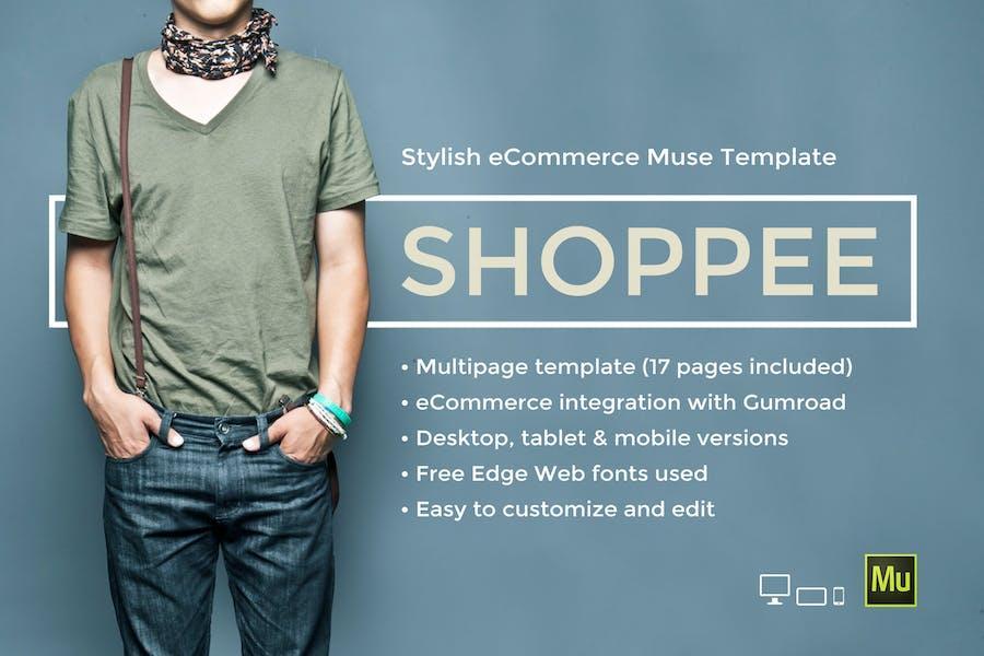 Shoppee - Stylish eCommerce Muse Template