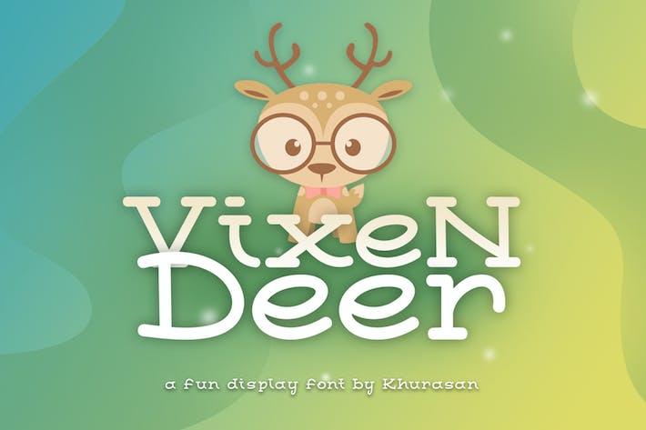 Thumbnail for Vixen Deer Font